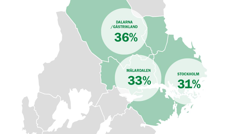 ByggPartner verkar i Stockholm, Mälardalen, Gästrikland och Dalarna