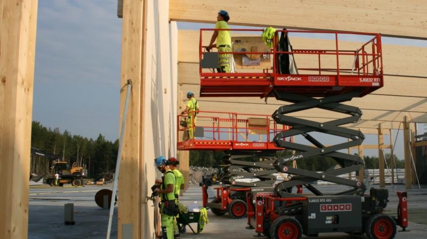 Bygge av datacenter med trästomme, ByggPartner, Falun