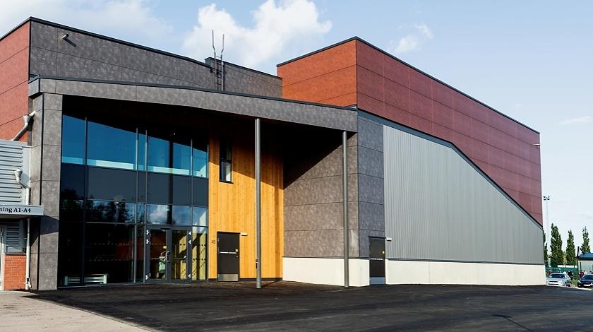 Lärkan sporthall sala ByggPartner partnering Sala kommun rockpanel