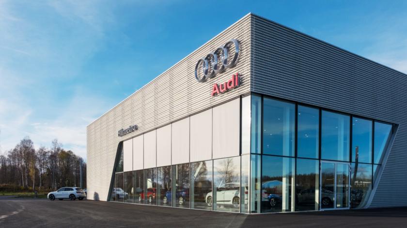 Audi bilhall byggt av ByggPartner