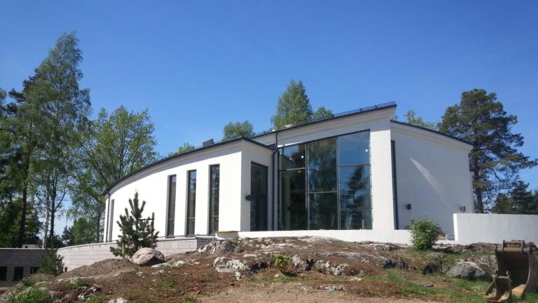 Duvan är en ceremonilokal utan religiösa symboler ByggPartner Boo församling Saltsjö Boo.