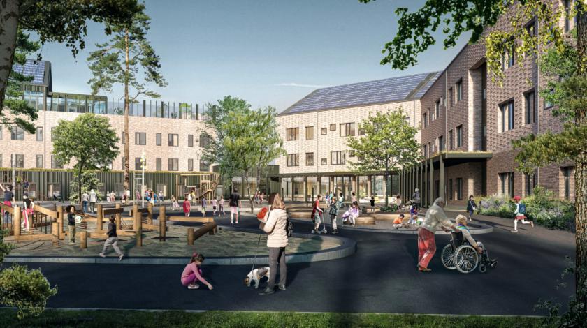Hemlingborg Gävle ByggPartner partnering skola förskola massivträ