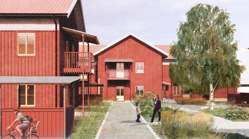 Kopparstaden Sundborn ByggPartner hyresrätter trä massivträ byggpartner