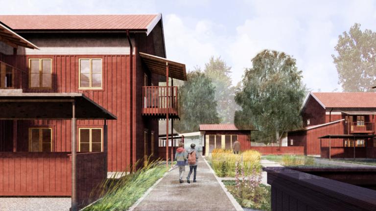 Kopparstaden Sundborn ByggPartner hyresrätter nya trä